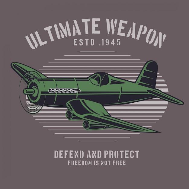 Ultimate sky weapon Premium Vector