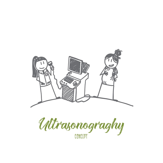 Ultrasonography concept illustration Premium Vector