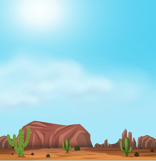 Uluru and desert on sunny day Free Vector