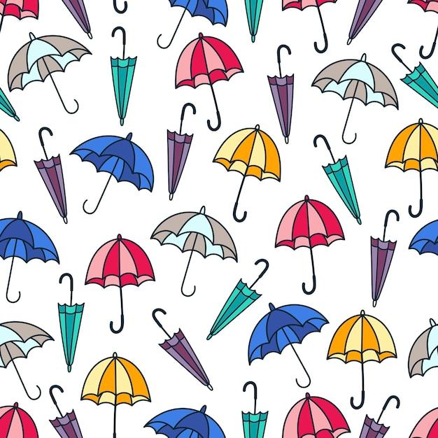 Umbrella background design Premium Vector