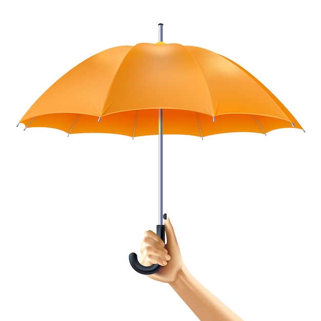 Umbrella in hand Free Vector