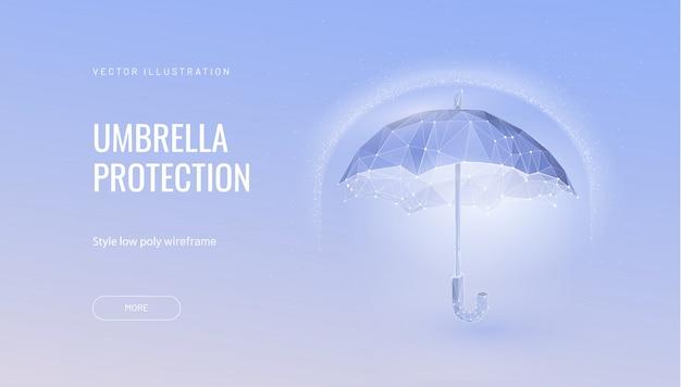 Зонт-щит. концепция защиты и изоляции от внешних факторов риска Premium векторы