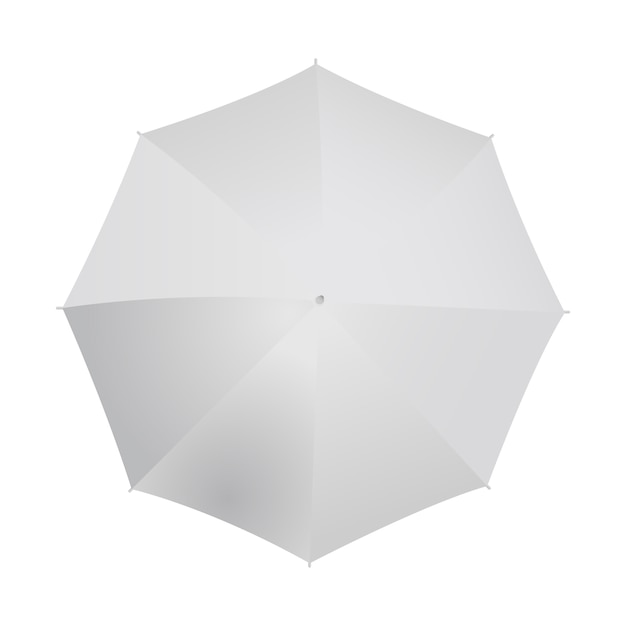Umbrella top view isolated on white. Premium Vector