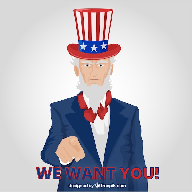 Uncle sam pointing Free Vector