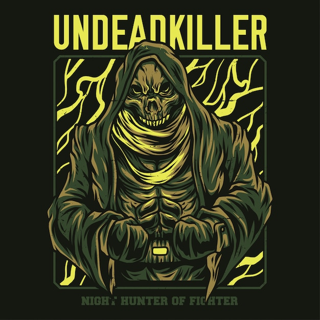 Undead killer illustration Premium Vector