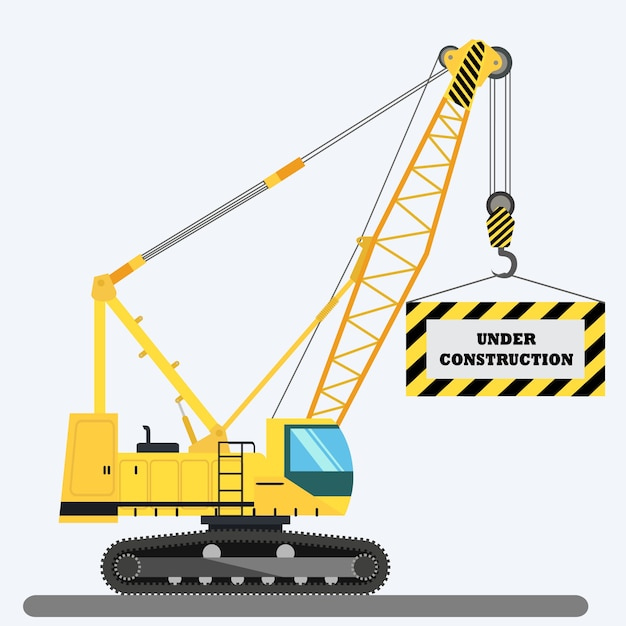 Under Construction Background Design Vector