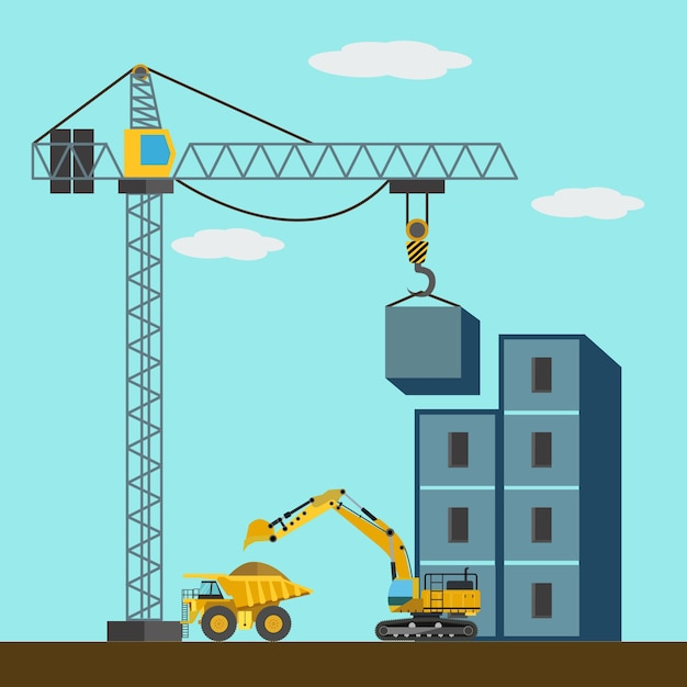 """under construction"" background design Vector 