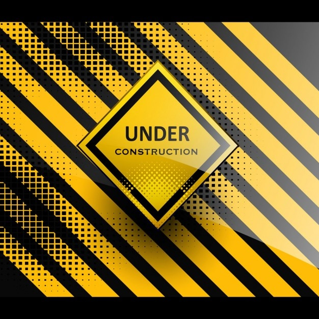 Under construction background Free Vector