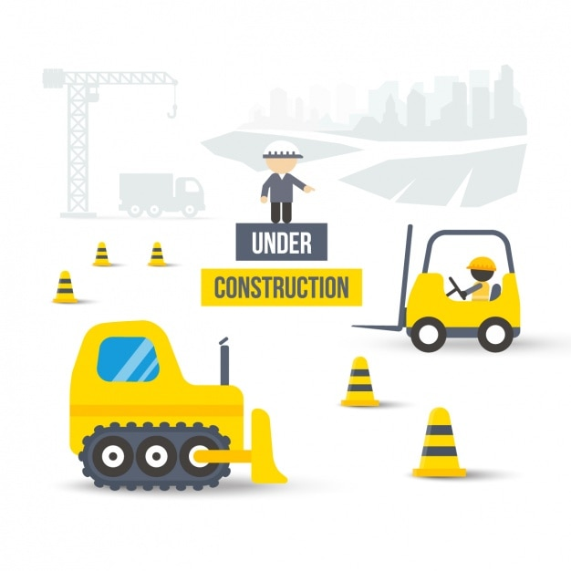 """under construction"" background Vector 