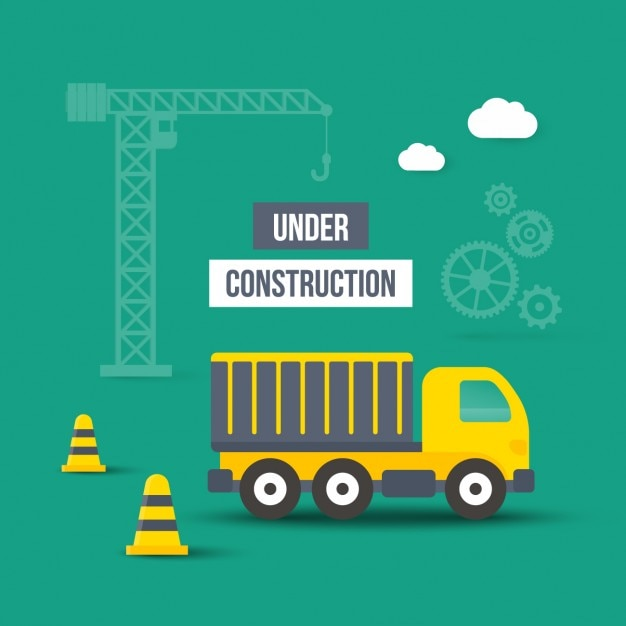 Under construction cartoon web elements Vector | Free Download