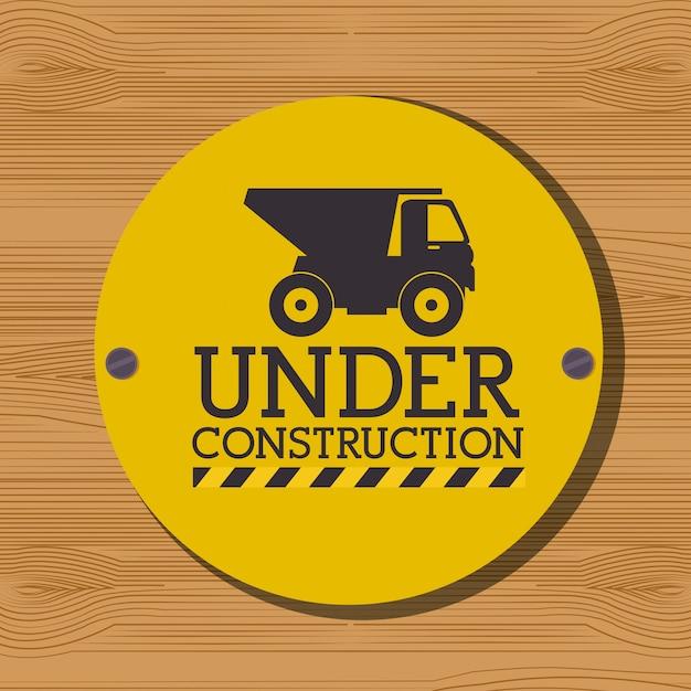 建設中のグラフィック広告 無料ベクター