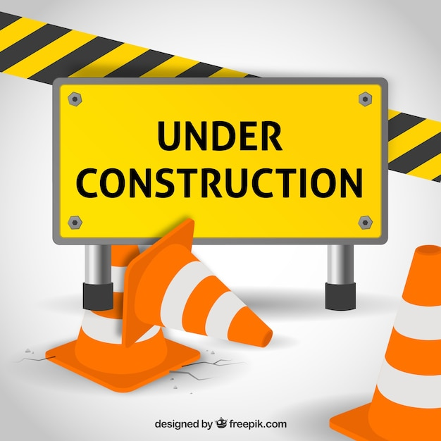 Under construction vector free download for Simple under construction html template