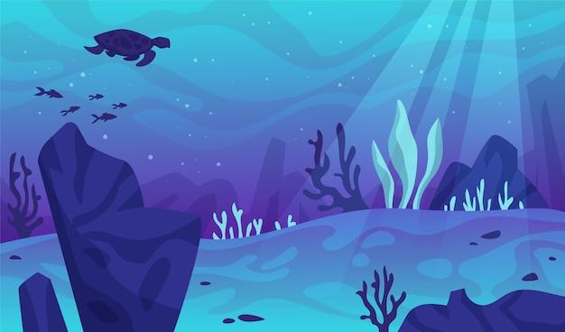 Под водой фон для видеоконференцсвязи Бесплатные векторы