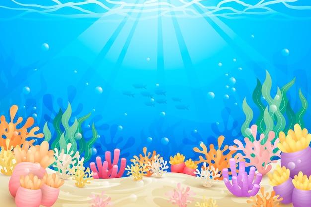 ビデオ会議用の海の背景 無料ベクター