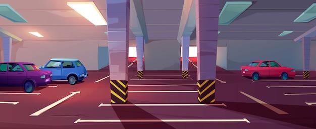 Подземный паркинг, подвал, гараж Бесплатные векторы