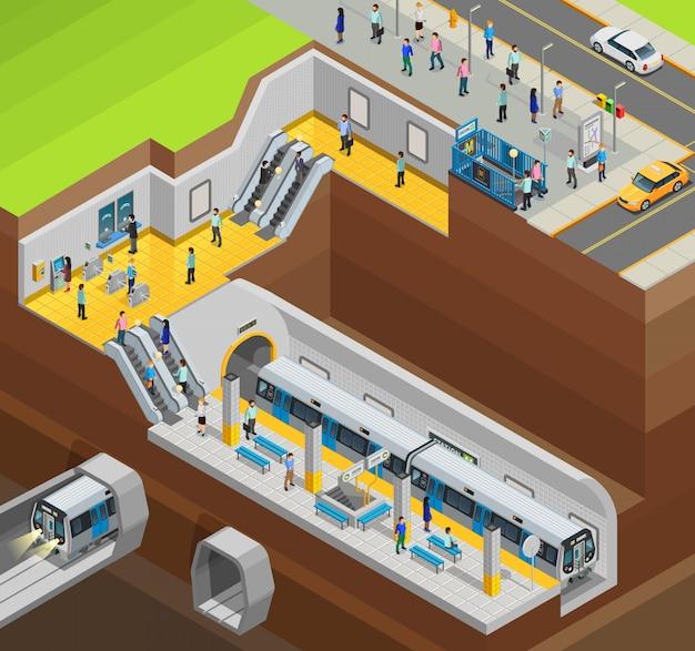 Underground design composition Free Vector