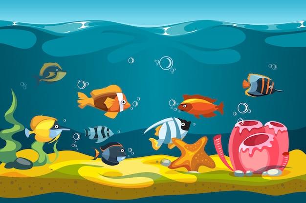 Underwater sea Premium Vector