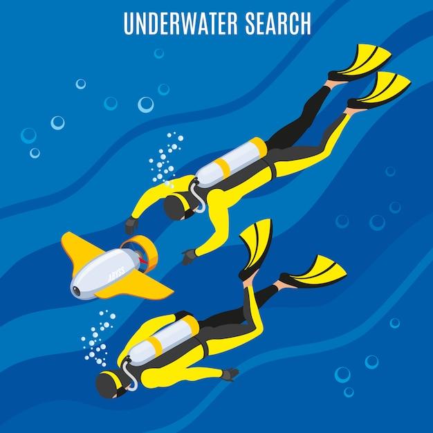 Ricerca subacquea Vettore gratuito