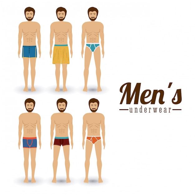 Underwear design Premium Vector