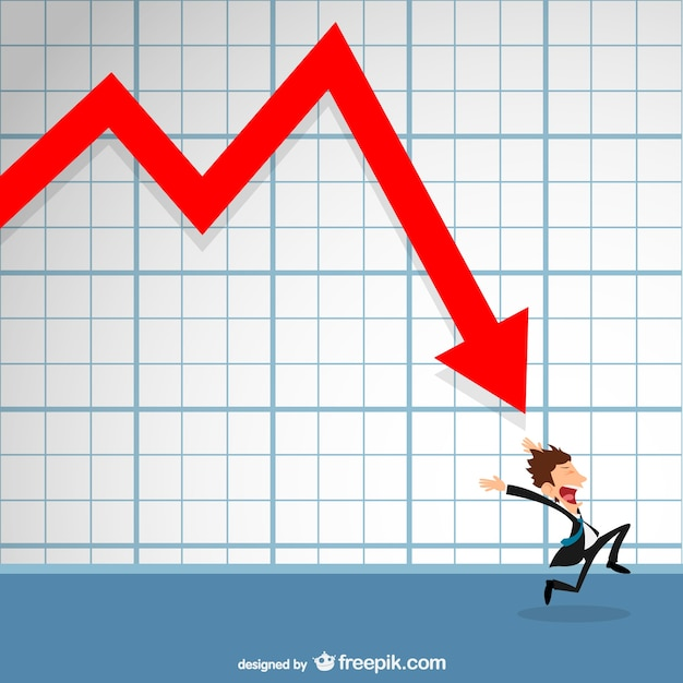 Unfavorable prospects in business Free Vector
