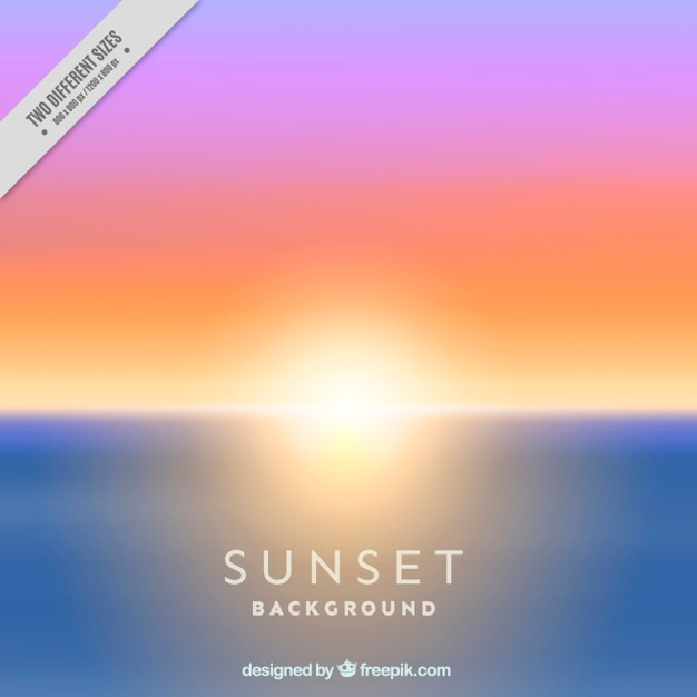 Unfocused background of sunset on the\ beach