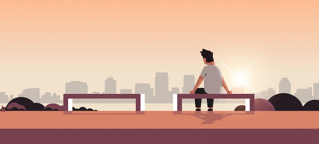 Unhappy sad man in depression having relationship problem Premium Vector