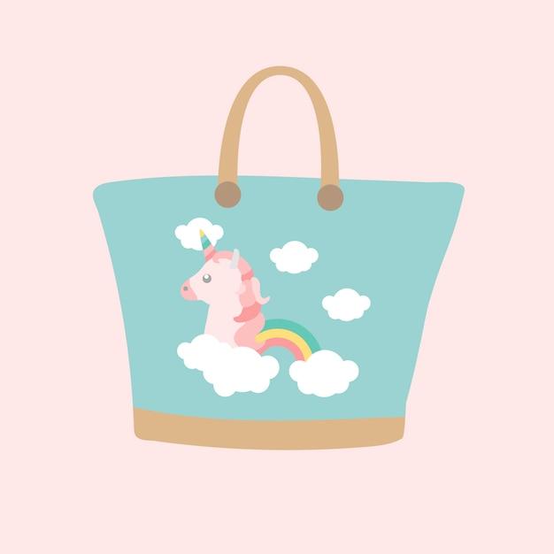 Unicorn bag Free Vector