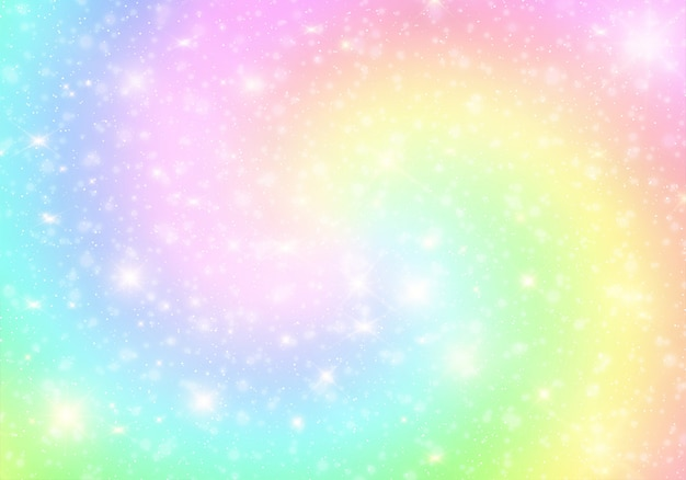 Unicorn color gradient universe background. Premium Vector