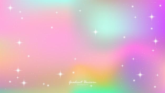 Unicorn gradient Premium Vector