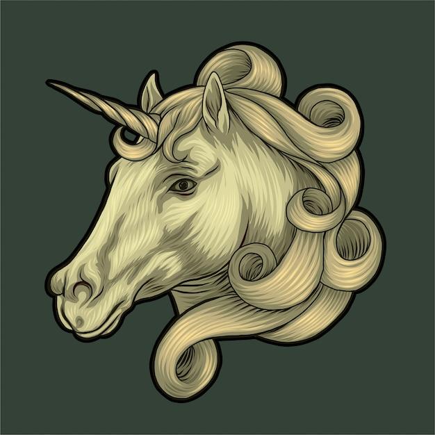 Unicorn illustration Premium Vector