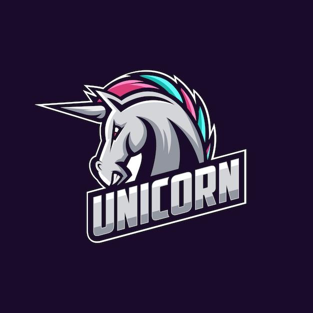 Unicorn logo design vector Premium Vector