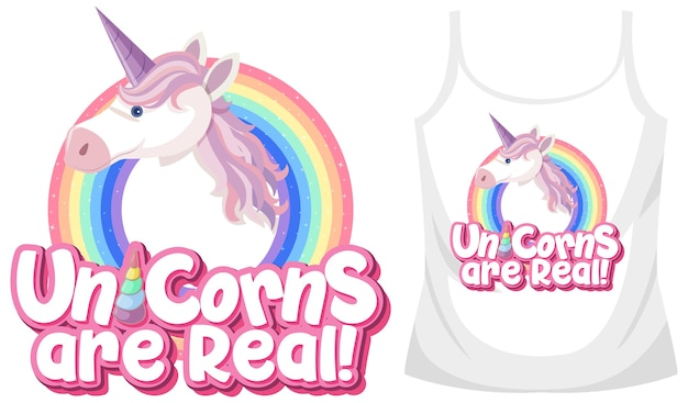 Unicorn singlet tops Premium Vector