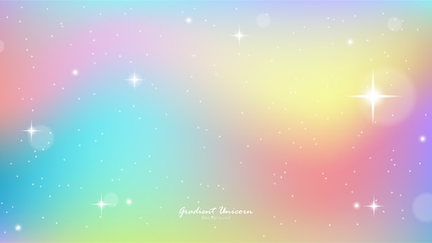 Unicorn sky colorful gradient Premium Vector