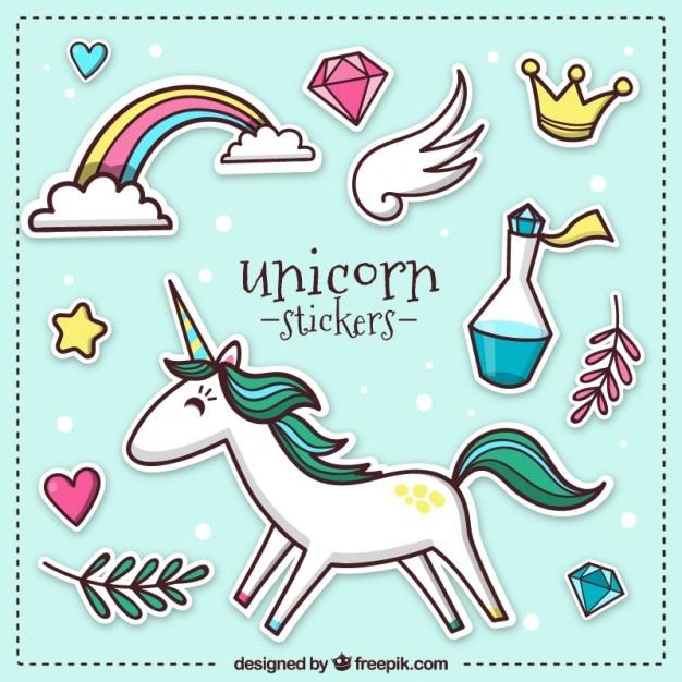 Unicorn Stickers Vector