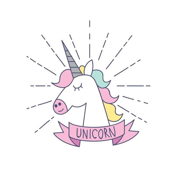 Unicorn Symbol Isolated On White Background Vector Premium Download