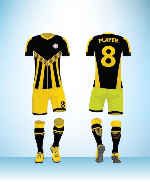 Uniform football design template vector Premium Vector
