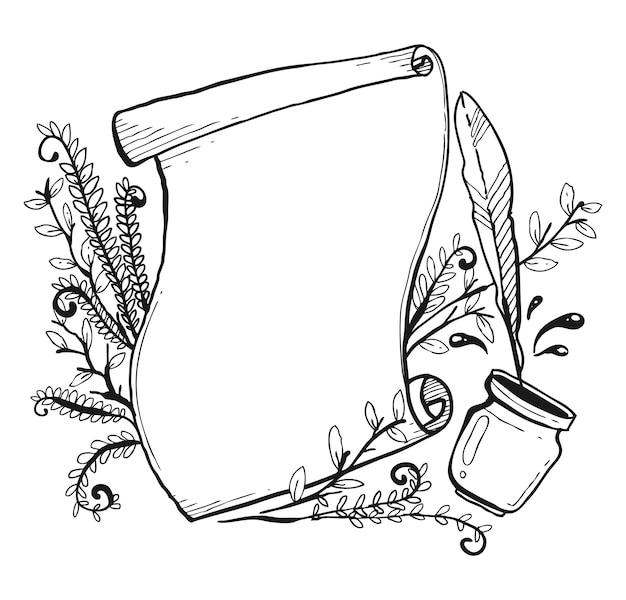 Premium Vector Unique Banner Sketch