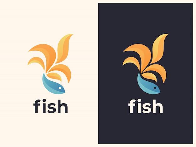 Unique fish gradient illustration Premium Vector