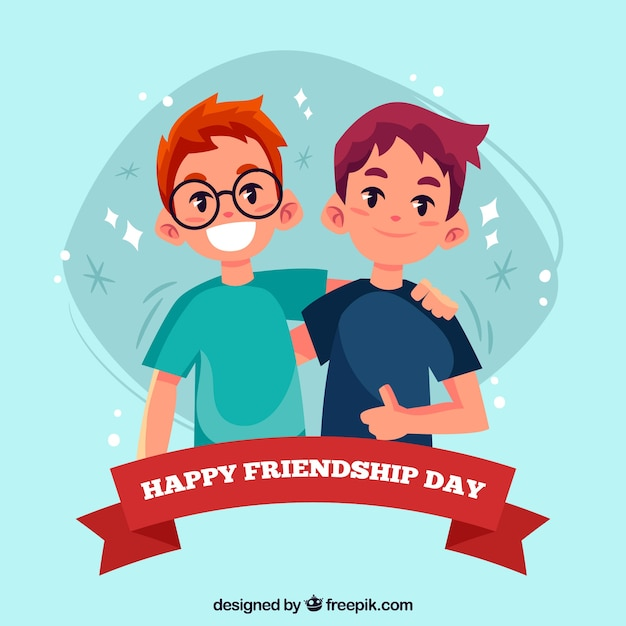 United friends background Free Vector