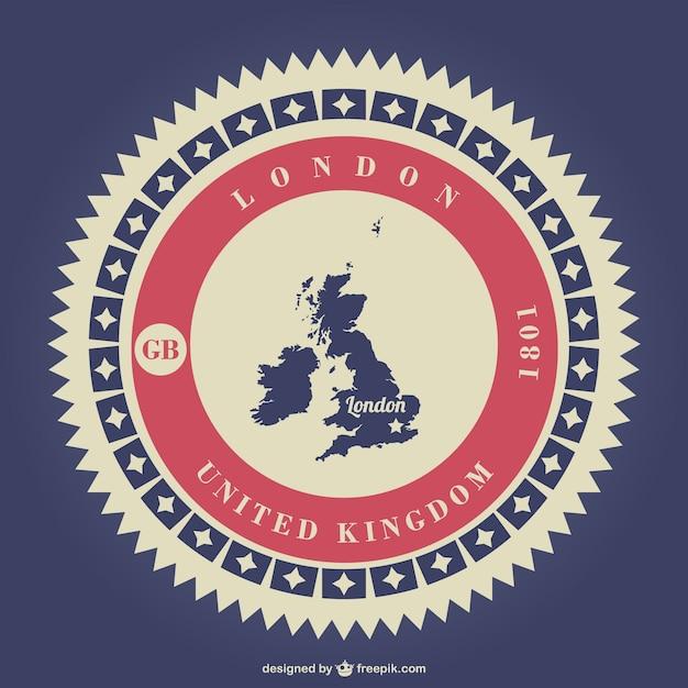 United Kingdom badge Free Vector