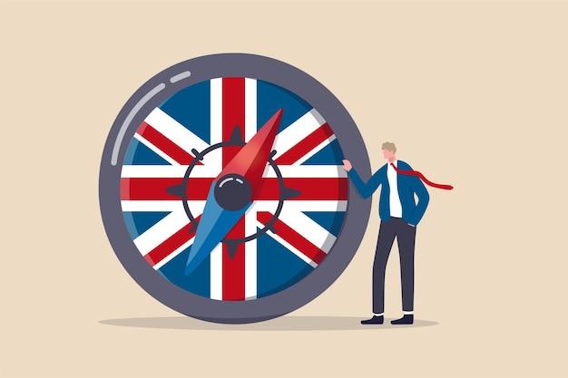 Brexit 거래 후 영국 경제 방향 프리미엄 벡터