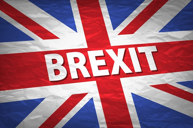 United kingdom exit from europe relative image. brexit named politic process. referendum theme Premium Vector