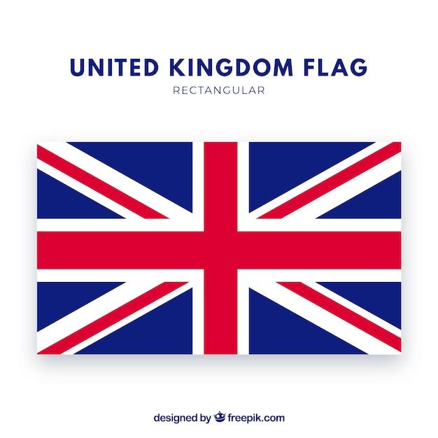 United kingdom flag background Free Vector