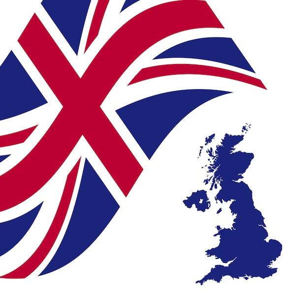 UnitedKingdomflagmapvector Vector Premium Download - United kingdom map vector