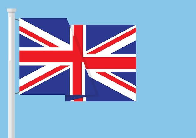 Флаг соединенного королевства с copyspace Premium векторы