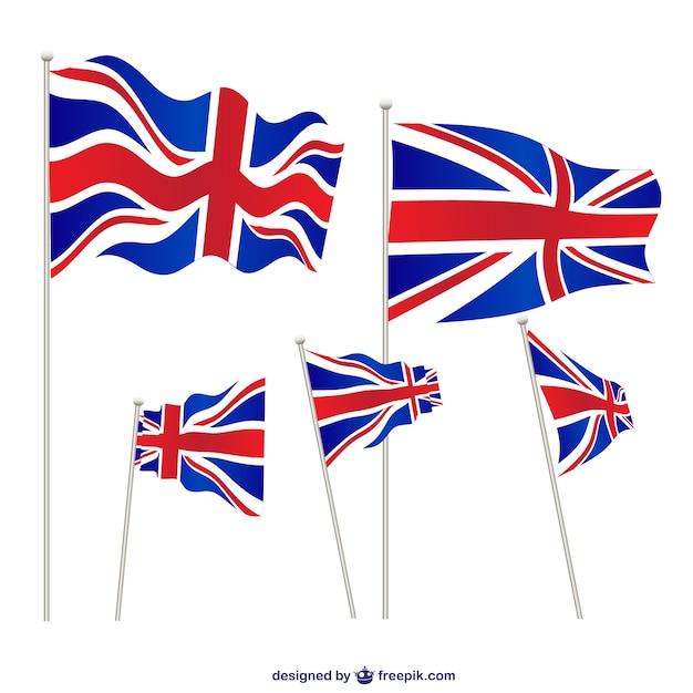 Установить единые флаги царство Premium векторы