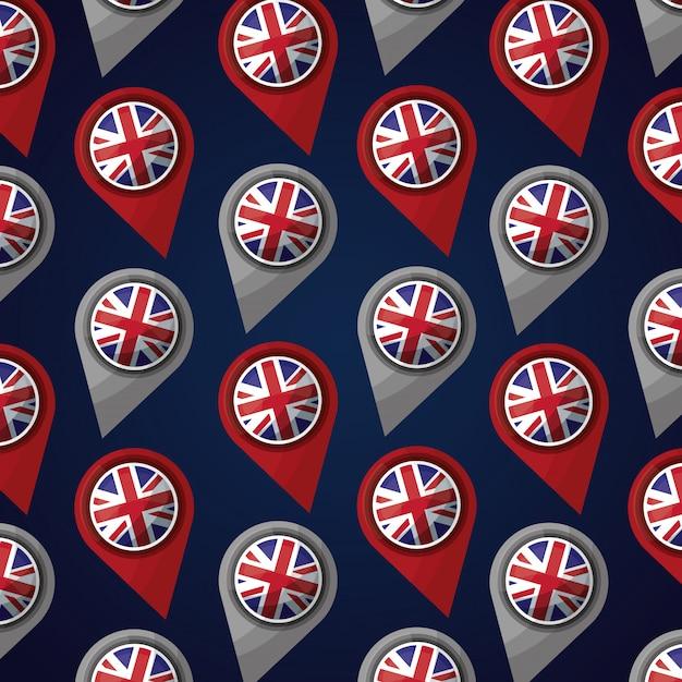 Флаг соединенного королевства Premium векторы
