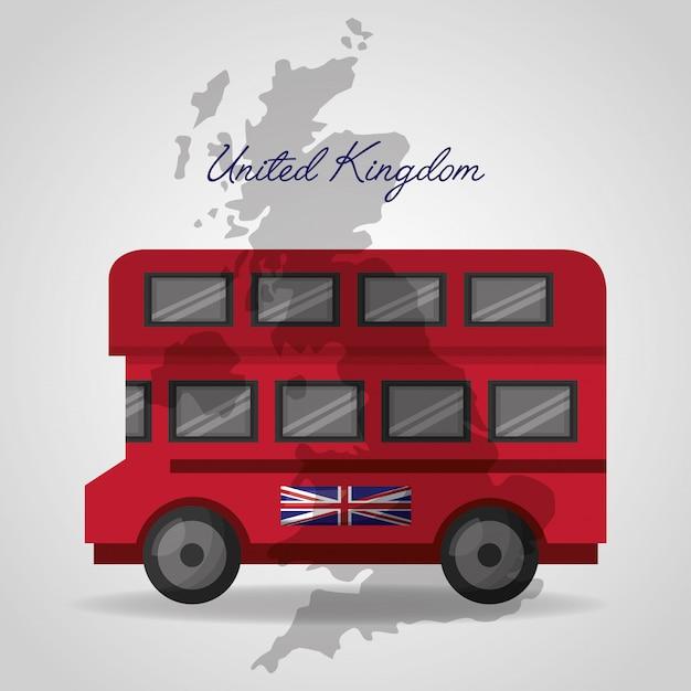 United kingdom places flag Premium Vector
