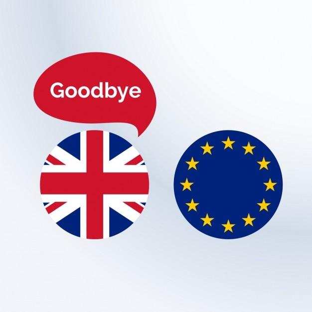 Соединенное королевство, прощаясь с европейским союзом Бесплатные векторы