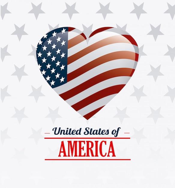 United states of america design. Free Vector